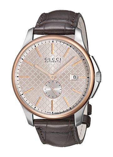 Gucci YA126314 - Reloj de automático Unisex, con Correa de Cuero, Color marrón