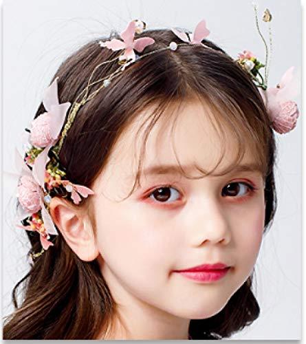 Kinderen Roze Haar Hoop Headdress Leuke Bloem Haaraccessoires Meisjes Foto's Haaraccessoires Klein Meisje Jurk Prestaties met Accessoires