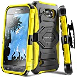 Galaxy S6 Active Case, Evocel [New Generation] Dual Layer Rugged Holster Case with Kickstand & Belt Clip for Samsung Galaxy S6 Active SM-G890 (Does NOT fit Regular S6 - S6 Active only), Yellow