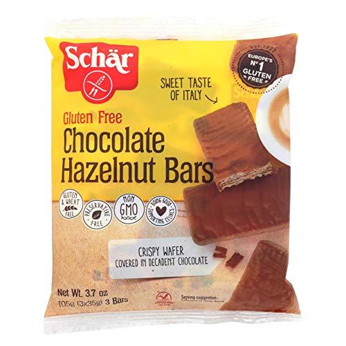 Schar Chocolate Hazelnut Bars Gluten Free - Case of 12 - 3.7 oz.