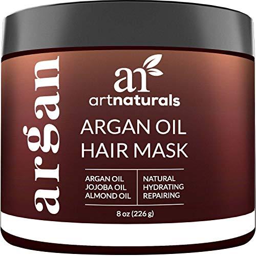 ArtNaturals Argan Oil Hair Mask - (8 Oz/226g) - Deep Conditioner - 100% Organic Jojoba Oil, Aloe Vera & Keratin - Repair Dry, Damaged Or Color Treated Hair After Shampoo - Sulfate Free