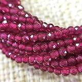 Pequeño Rubys Bead Piedra Natural Data Sappal Safires Saphires 2 3 mm Sección Flojo Beads para Joyería Maquillaje Collar Bricolaje Pulsera (Color : Red, Size : 3mm)