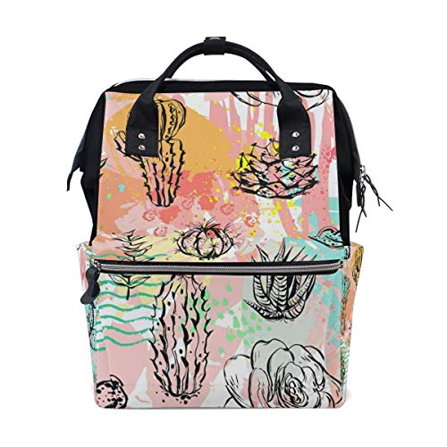 Casual Travel Daypack Succulent Cactus Flower Casual Daypacks for Man Women Lightweight Packable Backpack Backpack for School,Large Capacity,Multipurpose,Stylish and Durable