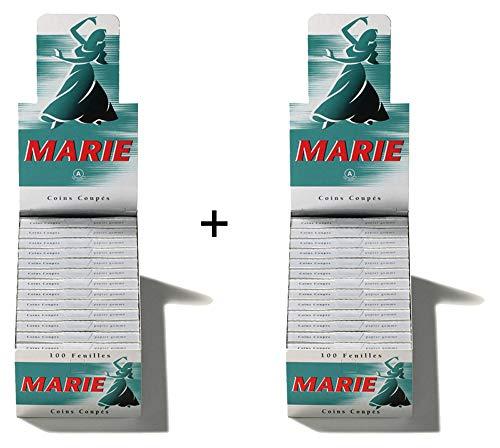 2x MARIE 100 Blatt / 25er (Blättchen, Paper, Papier)