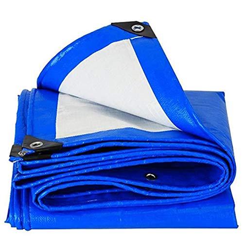 QIAOH Lona Impermeable 5X8m, Toldo De PVC Impermeable para Mueble, Lona Impermeable con Ojales Lona De Protección Exterior para Jardín Mesa Protectora