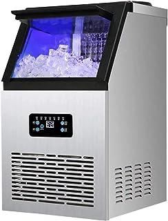 Machine à glaçons, intégré machine à glaçons en acier inoxydable, 60 kg / 24H, Design Autoportante Party Gathering, Restau...
