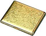Gymqian Caja de Cigarrillos de Alta Calidad Caja de Metal Retro - Tenedor de Bolsillo Abierto Del Clip de Resorte de Doble Cara para 16 Cigarrillos cajas de cigarrillos
