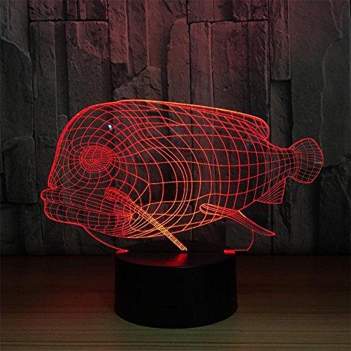 baby Q LED 3D Lampe, Lumières acryliques de Contact de Couleur 7, lumières créatrices de Gradient de Cadeaux, lumière d'alimentation d'USB