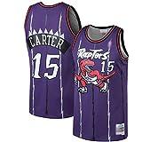 SGYW Camisetas de baloncesto Vince Toronto NO.15 Raptors Carter Mitchell & Ness 1998-99 Hardwood Classics Swingman Jersey - Sudadera transpirable para hombre, color morado