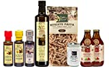 Papa Vince FOOD GIFT BASKET made by our family in Sicily from Gourmet ingredients grown in Italy. Low Carb Pasta, Low Acid Tomato Sauce, No Sugar Pectin, Olive Oil, Balsamic. VEGAN, KETO. No Pesticide
