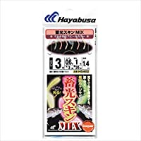 ハヤブサ 蓄光スキンサビキ(堤防小アジ五目)MIX HS402 7-1.5