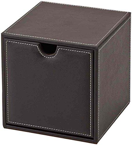 BASIC ステッチ が おしゃれ レザー 調 サイコロ 小物 収納 ボックス BS-6