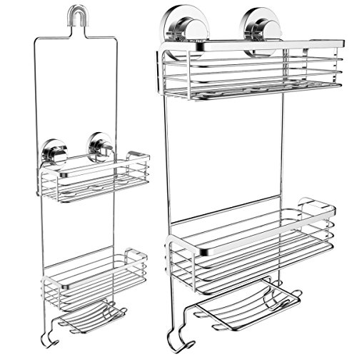 Vidan Home Solutions Shower Caddy Dual Installation (Hanging or Mounted)| Rustproof, multi-shelf /...