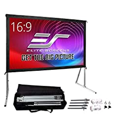 """135-inch Diagonal, 16:9 Aspect Ratio. View Size: 66.2"""" H x 117.7"""" W. Overall Size: 96.2"""" H x 122.9"""" W x 36.7"""" Leg Size. Silver Aluminum Frame. Screen Material: CineWhite, 1.1 Gain. 4K Ultra HD and Active 3D Projection Ready. Features 160 degree viewi..."""