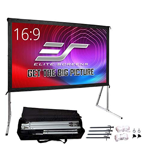 Elite Screens Yard Master 2, 135 inch Outdoor Projector Screen w/ Stand 4:3, 8K 4K Ultra HD 3D Portable Fast Folding Movie Theater Indoor REAR Projection, OMS135VR2 - US Based Company 2-YEAR WARRANTY