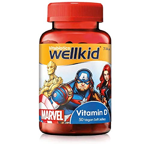 Vitabiotics Wellkid Marvel Vitamin D Jellies - 50 Vegan Soft Jellies