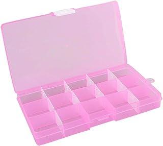 sdfghzsedfgsdfg 15 fack plast avtagbar genomskinlig mottagningsbox smycken förvaringsbox artiklar klassificeringsbox