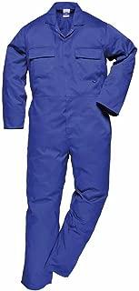 Mens Luxury Heavyweight Blue Castle Zip Front Boiler Suit Work Overalls 38 Chest, Navy Blue