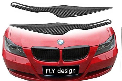 """Car-Tuning24 55086155 Scheinwerferblenden Set """"Böser Blick"""" aus echtem Carbon für wie Performance und M3 E90 & E91 05-08"""