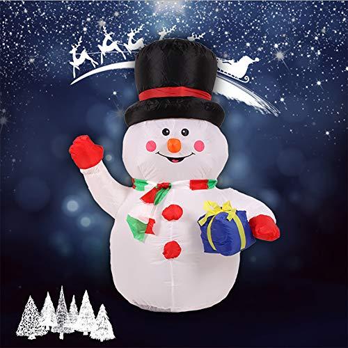 Light zelfopblaasbare decoratie kerstman met geschenkzak LED blazer rood -H180 cm