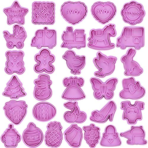 Hoteck 32 Stück Ausstechformen Ostern Set Ausstecher Set,Osterhasen Plätzchenformen für Kinder, keksausstecher Set mit Auswerfer perfekt für Oster Keks,Plätzchenformen Küken, Ei Plätzchenausstechform