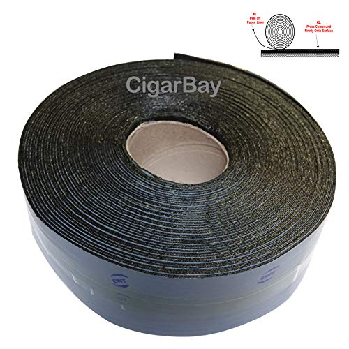 EWT 65FT x 3IN Asphalt Tarmac Joint Crack Sealer Fabric Self-Adhesive Patch Bitumen Tape, Parking Lot, Roof (618)