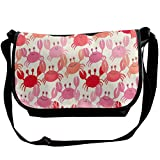 Red Crabs Unisex Casual Messenger School Shoulder Bag Travel Crossbody Bag Single Shoulder