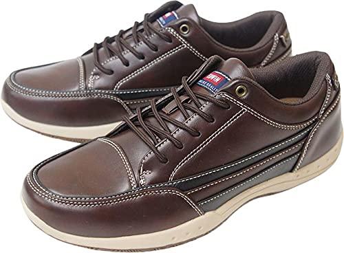EDWIN エドウィン メンズ 靴 モカシン カジュアル ウォーキング シューズ おしゃれ 軽量 ローカット 男性 痛くない 疲れない スニーカー 父の日 hredm5520(ダークブラウン 25.0cm)