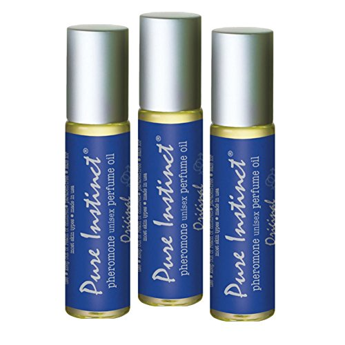 Pure Instinct Roll-On (3-Pack) - The Original Pheromone Infused Essential Oil Perfume Cologne - Unisex Attracts Men and Women - TSA Ready