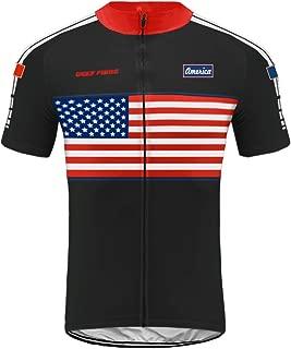 Uglyfrog Men's Short Sleeve Cycling Jersey - Bike Biking Shirt American National Team AMGQX03