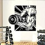 HGFDHG Gym Stickers muraux Fitness Motivation Musculation Art Mural Vinyle Mur décor à la Maison Salle de Gym