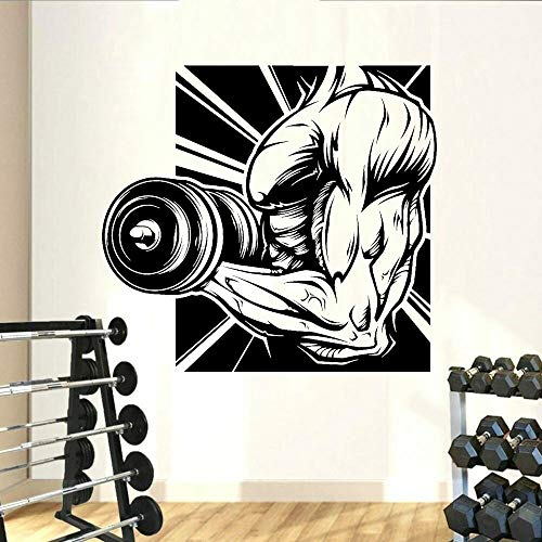 Vinilo decorativo para pared, diseño de gimnasio