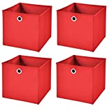 Stick&Shine 4X Aufbewahrungs Korb Rot Faltbox 33 x 33 x 33 cm Regalkorb faltbar
