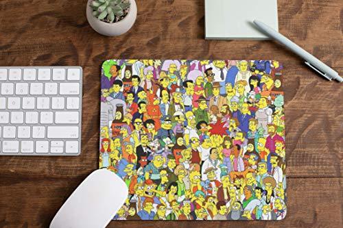 Alfombrilla de Raton de Ordenador Los Simpsons, Encuentra tu Personaje Favorito, ¿Donde está?