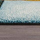 Paco Home Kurzflor Wohnzimmer Teppich Bunt Karo Design Vierecke Mehrfarbig Farbenfroh, Grösse:80x150 cm - 2