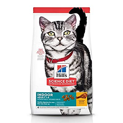 Hill's Science Diet Adult Indoor Cat Food, Chicken Recipe Dry Cat Food, 7 lb Bag