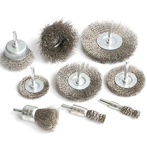 Cepillo de pulido 1pc 2inch / 3 '/ 4' Copa de la rueda de alambre de acero inoxidable Conjunto de cepillo de la taza para el cáscara de taladro 1/4 'para eliminar el rendimiento de la pintura y la lim