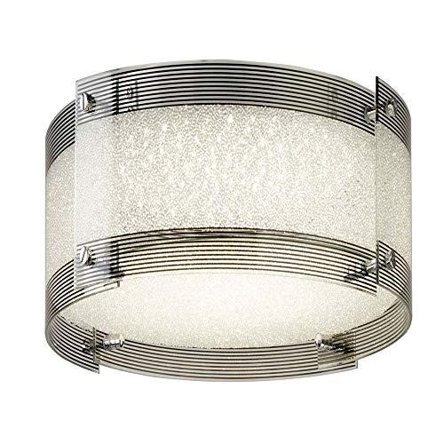 Shelby - Lámpara LED de techo (30 W, regulable, cromo/cristal, 3000 K, intensidad regulable)