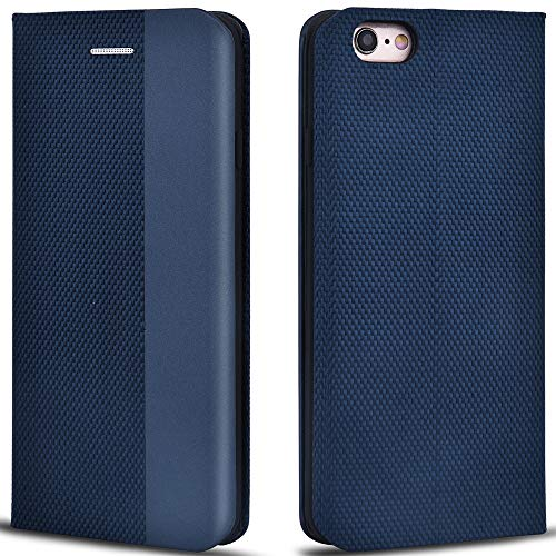 Aicoco Schutzhülle für Apple iPhone 6/6S 4,7 Zoll Leder Hülle Flip Case Handyhülle - Blau