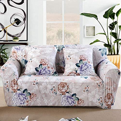 NIASGQW Funda para Sofá Elasticas de 1 Plazas -Lmpresión Floral Fundas Decorativas para sofás(Gratis 2 Funda de Cojines) Universal Muebles Fundas Decorativas para Sofás -Flores Vintage