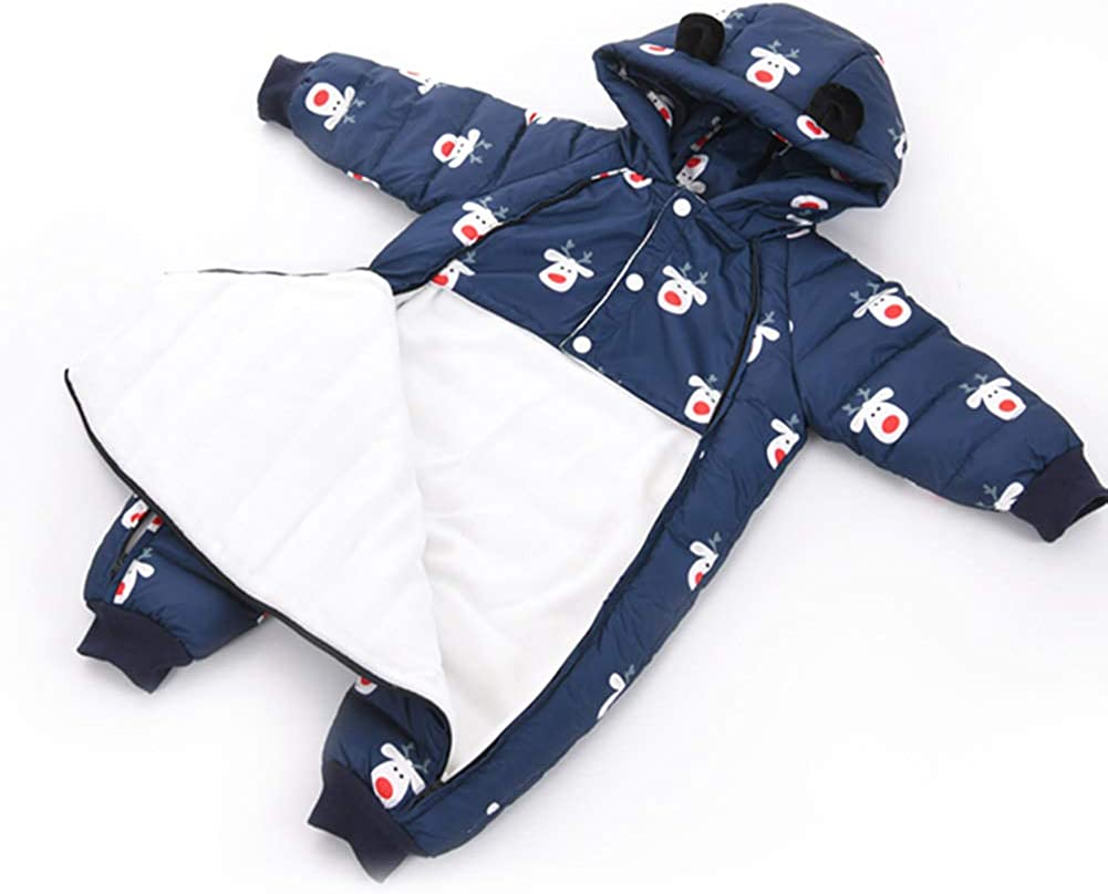Romper + Gloves + Shoes for 0-24 Months LPATTERN Baby Girls Boys Warm Down Romper All in One Snowsuit One Piece Puffer Suit Winter Infant Bodysuits Outfit Double Zipper Jumpsuit 3Pcs Set