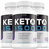 (3 Pack) Advanced Keto 1500 Pills Ketogenic Supplement Exogenous Ketones Premium Ketosis Support for Men Women Keto Advanced 1500 (180 Capsules)