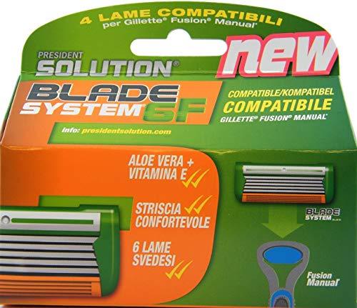 Cuchillas compatibles con Gillette Fusion (no aptas para el mango Flexball).