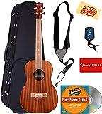 Kala KA-B Mahogany Baritone Ukulele Bundle with Hard Case, Tuner, Strap, Fender Play, Austin Bazaar Instructional DVD, and Polishing Cloth