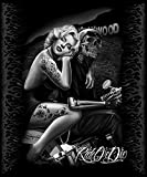 DGA Marilyn Monroe Signature Collection Super Soft Queen Size Plush Blanket, Hollywood Homegirl