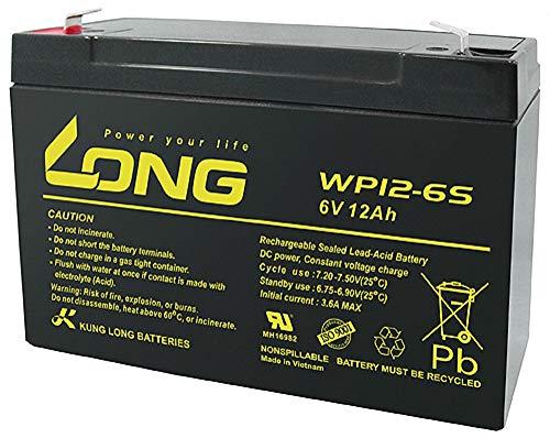 6 V 12 Ah accu AGM gel batterij PEG PEREGO kindervoertuig kinderauto elektrische auto lang