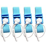 Adjustable Estim Wrist Strap Components 4pcs Blue Stim Loops 4pcs White Wires