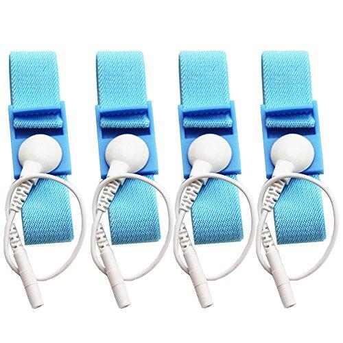 Adjustable Estim Wrist Strap Components 4pcs Blue Stim Loops 4pcs White Wires