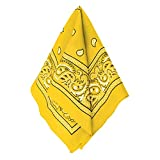 Amscan Bandana, Party Accessory, Yellow , 20' x 20' - 255561.09