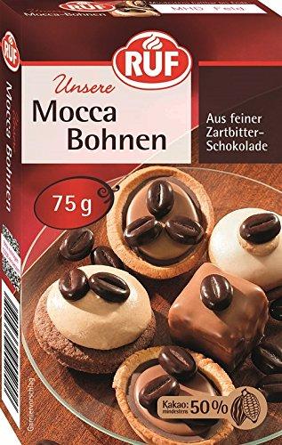 RUF Mocca-Bohnen • Kaffee-Bohnen aus Zartbitter-Schokolade, 1 x 75 g